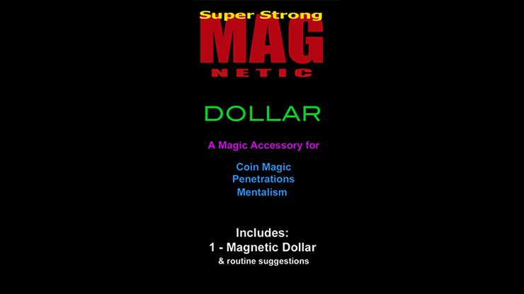 Standard Magnetic Dollar w/Zone Zero Bill Routine (No Coins) by Chazpro