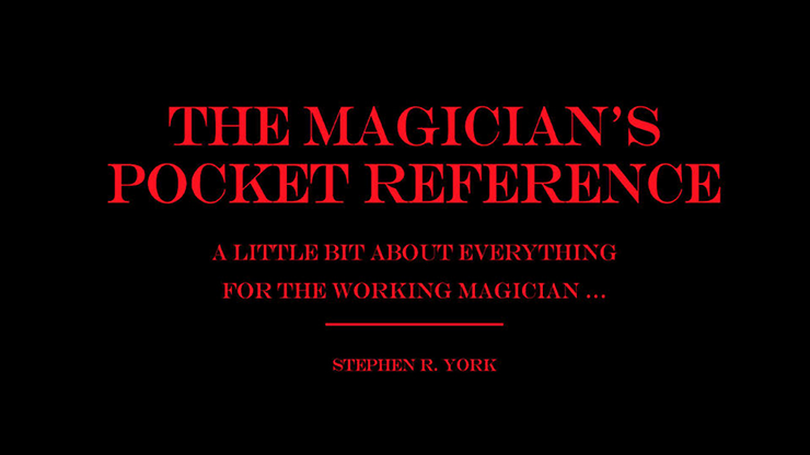 The Magician`s Pocket Reference by Jorge Mena