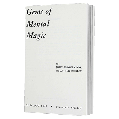 Gems of Mental Magic by Arthur Buckley - eBook DOWNLOAD