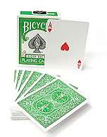 Cards - Regular Bicycle - green
