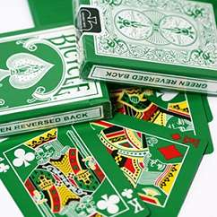 Reverse Color Playing Cards - Green