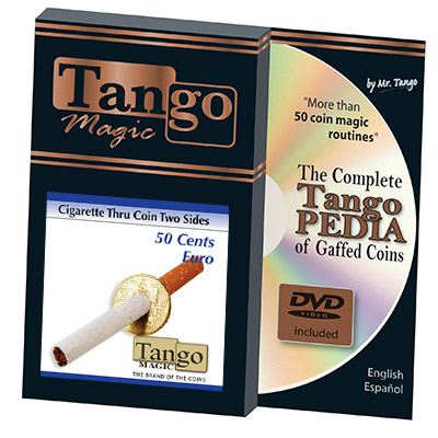 Cigarette-Through-50-Cent-Euro-Two-Sided-w/DVD-by-Tango
