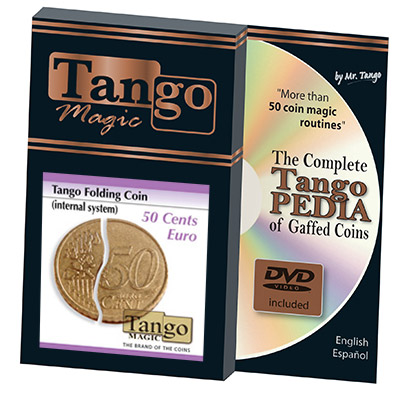 Folding Coin (50 Cent Euro, Internal System) by Tango
