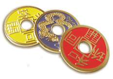 Multi-Colored Chinese Coins