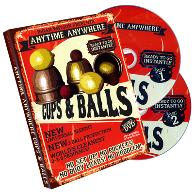 Anytime Anywhere Cups & Balls (2 DVD Set) by Brian Watson