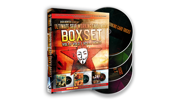 Ultimate Self Working Card Tricks Triple Volume Box Set by Big Blind Media
