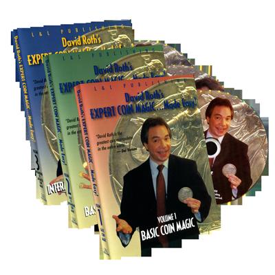 David Roth Expert Coin Magic Made Easy (3 Vol. set)