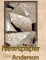 Torn & Restored Newspaper - Anderson