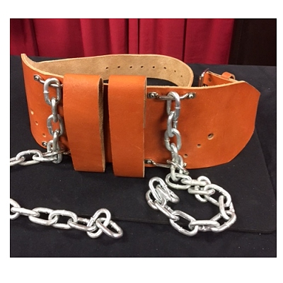 TOM HORN LEATHER PRISONER TRANSPORT BELT