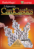 Three Card Castles From Paper Bag