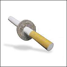 Cigarette Thru Coin by Johnson Products