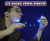 Lit Bulbs From Mouth