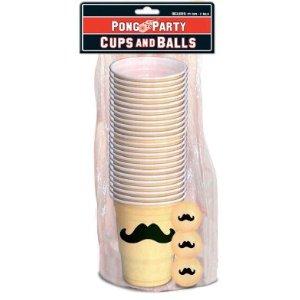 Mustache Beer Pong Pack