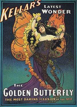 Kellar Golden Butterfly on Canvas