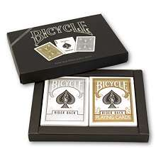 Bicycle Gold and Silver Cards
