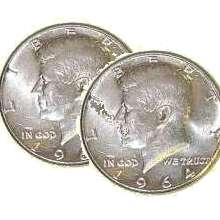 Two Sided Half Dollar - 64 Kennedy