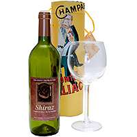 Airborne Wine and Glass