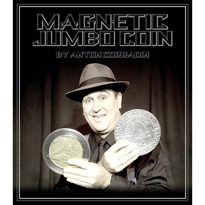 Magnetic-Jumbo-Coin-With-DVD-(2-EURO)-by-Anton-Corradin*