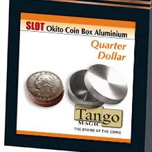 Slot-Okito-Coin-Box-Quarter-Aluminum-by-Tango