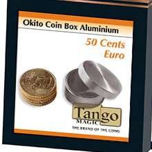 Okito-Coin-Box-Aluminum-50-cent-Euro-by-Tango