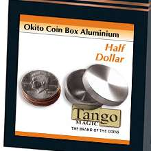 Okito Coin Box Aluminum Half Dollar by Tango