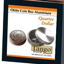 Okito Coin Box Aluminum Quarter by Tango