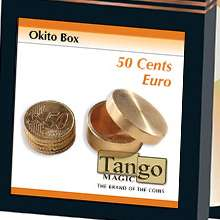 Okito Coin Box Brass 50 cent Euro by Tango