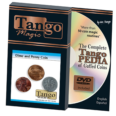 Dime and Penny trick from Tango coin magic
