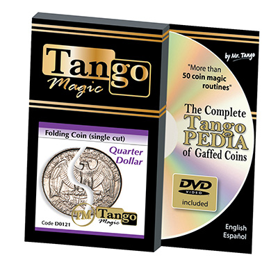 Folding Quarter dollar - (Single cut) by Tango