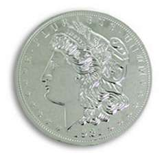 Jumbo 7 inch Morgan Chrome Dollar