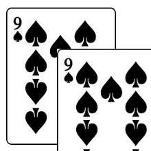 Double Face Cards - Same Both Sides