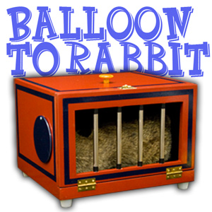 Balloon To Rabbit Cage