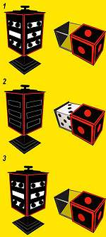 Appearing & Disappearing Dice with Drawer - Tora