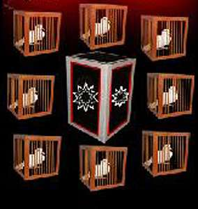 8 Appearing Cages From Empty Frame - Tora