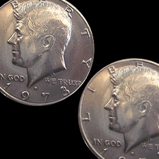 Two Sided Half Dollar - Johnson Products