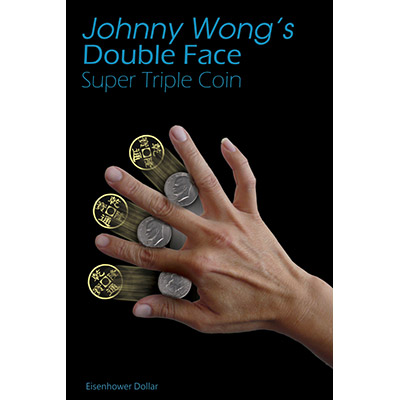 Double-Face-Super-Triple-Coin-Eisenhower-Dollar-Johnny-Wong