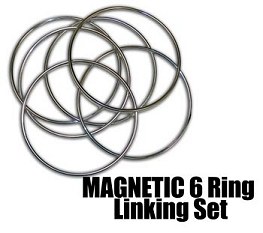Magnetic Locking Linking Rings - 6 ring set