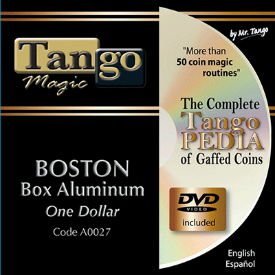 Boston Coin Box - Dollar Size by Tango Magic - Tricks
