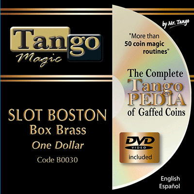 Slot Boston Coin Box - Dollar Size by Tango Magic - Tricks