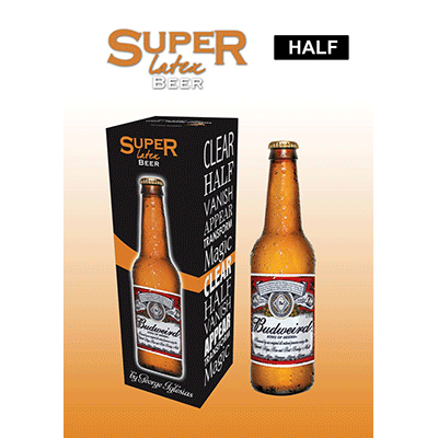 Super Latex Brown Beer Bottle (Half) by Twister Magic*