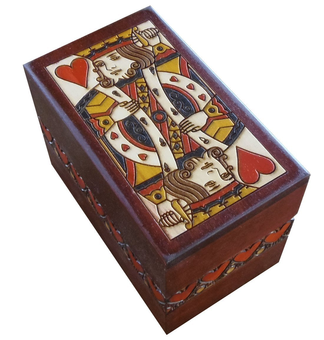 Card Box Holder with King Of Hearts design