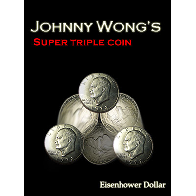 Super Triple Coin Eisenhower Dollar by Johnny Wong