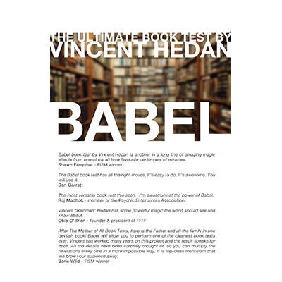 Babel Book Test (3 Books) by Vincent Hedan