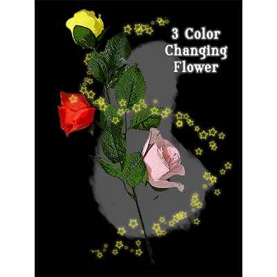 Three Color Changing Floating Flower by JL Magic