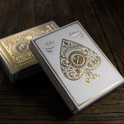 White Artisan Playing Cards - Theory11