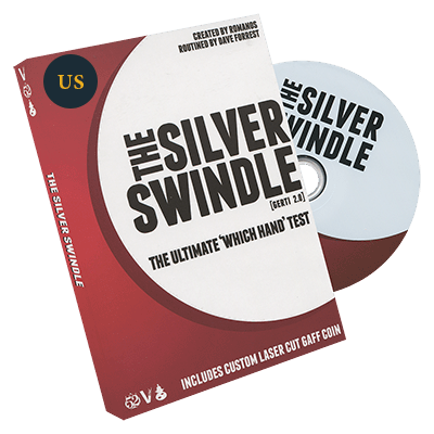 Silver Swindle U.S. Quarter by Dave Forrest