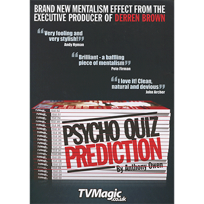 Psycho Quiz Prediction by Anthony Owen