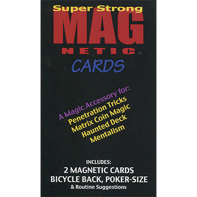 Magnetic Cards (2 pack) by Chazpro Magic
