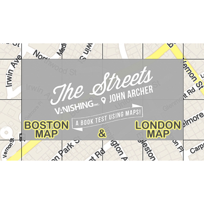 The Streets Set (Boston and London Map) by John Archer