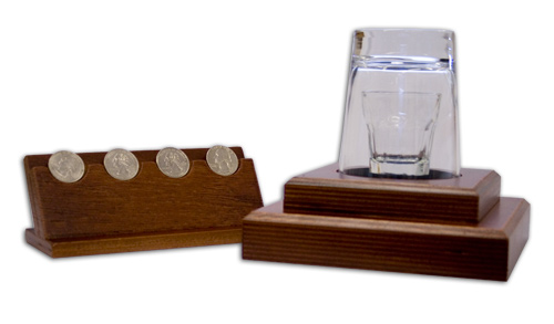 Coin Flight In Glass
